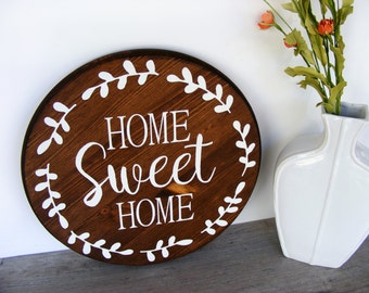 Home State Sign Custom Home Decor Sign Wood By Thepaintedhedge