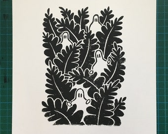 Jungle - Lino Print