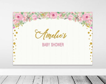 Baby Shower Backdrop, Baby Shower Decorations, Printable Backdrop, Printable Backdrop, Party Backdrop, Birthday backdrop, party decor, sign