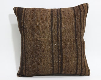 Anatolian Kilim Pillow 16x16 Decorative Kilim Pillow Throw Pillow Home Decor Striped Kilim Pillow Throw Pillow Bed Pillow  SP4040 1561