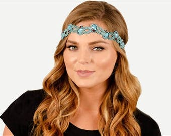 """Pink Pewter """"Maisy"""" Headband (with detachable chord to make into a choker!)"""