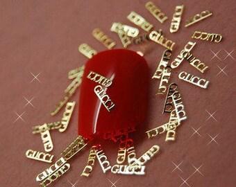 50 PCs  gold metal  Gucci 3D Nail Art Nail Art Decoration nail stickers nail decal