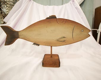 Signed Wooden Fish