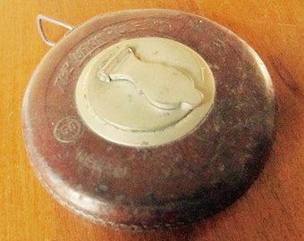 Antique Lufkin Rule Company Steel Tape Measure 1908