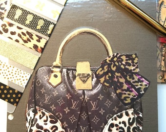 Leopard Print Purse Laminated Dashboard- GM, MM, PM