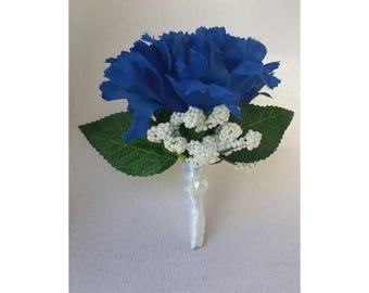 Royal Blue Boutonnieres  Royal Blue Wedding Boutonnieres Groomsmen Blue Boutonnieres Royal Blue Gentleman Boutonniere Royal Blue Boutonniere