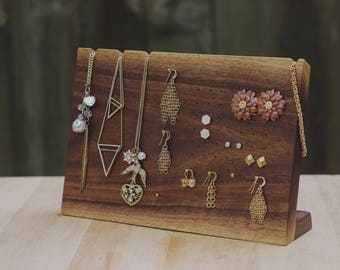 Wooden Earring Display Stand / Jewelry Organizer / Necklace Display / Earring Organizer