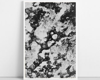 MARBLE Print, Nature Texture Print, Black and White Photography, Photo Wall Art Decor, Printable Art, Large Poster, Digital Instant Download