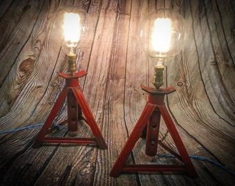 Industrial Axle stand Bedside lamps
