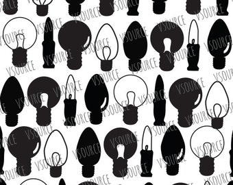 Svg - Christmas Light Bulb SVG - Light Bulb Art - Light Bulb SVG - Light Bulb Svg -  Light Bulb Clipart - Christmas Lights