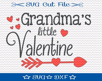 Valentine SVG, Grandmas Valentine SVG File, SVG for Silhouette Cameo Cut File, Cupid svg, Love svg, Kids Valentine svg