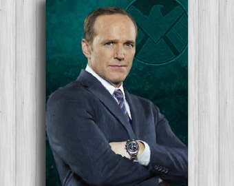 coulson agents of shield art marvel poster avengers decor marvel painting