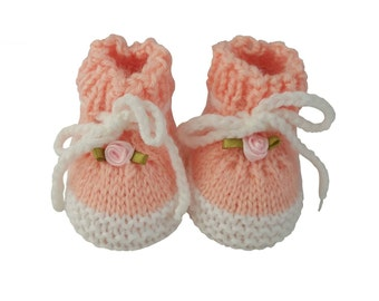 Newborn Baby booties, baby shoes, baby boots, knitted baby booties, baby shower, handmade, shoes for babies, baby dark blue peach light blue