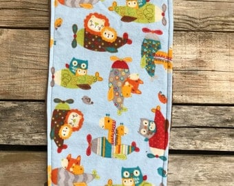 Flannel & Terry Cloth Burp Cloth - Baby Burp Cloth - Burp Rag - Nursing - Feeding - Burping - Oversized Burp Cloth - Shower Gift - Baby Gift