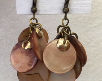 Shell & gold cluster drops