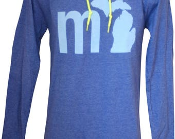 MI Michigan Lightweight Hoodie - Blue