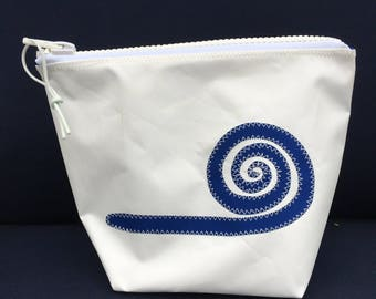 Sunblock Bag -Blue Swirl - Made from Recycled Sail