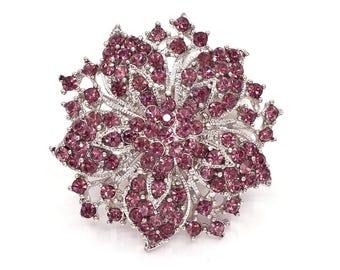 Purple Brooch, Crystal Brooch, Wedding Brooch, Wedding Accessories, Bridal Brooch bouquet, Wedding Cake Brooch, DIY Crafts