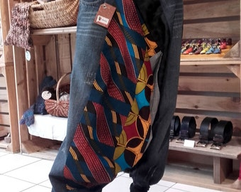 Harem pants to order mixed composition patchwork denim and wax Wax & LIne