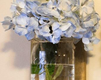 Single Reclaimed Wood Hanging Mason Jars - Farmhouse Chic Decor - Mason Jar Decor - Decorative Wall Hooks
