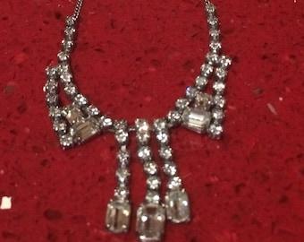 Vintage diamanté necklace