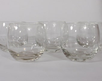 Vintage Large Roly Poly Glasses-Set of 5