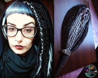 "Set of synthetic dread ""Silver And Cold""(gray, black,white, blond)"