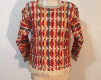 Vintage Classic Multicolor Wool Sweater