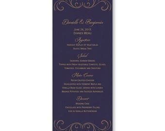 Menu Cards for Terry Roberts- Striking Flourish- AV6108