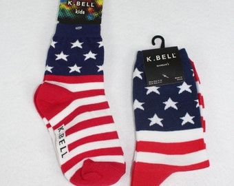 Matching Mommy & Me Stars and Stripes Socks