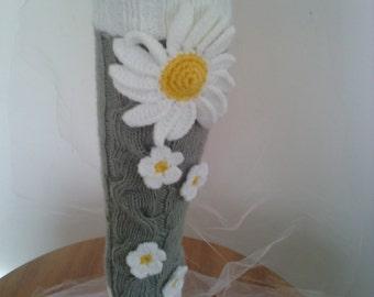 Hand knit gaitri,Gaitri flover Camomile gaitri