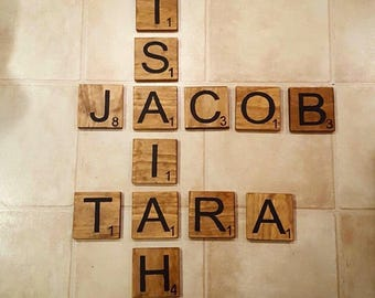 "5.5"" Wood Scrabble Tiles"