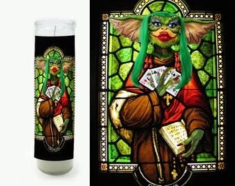 Gremlin Candle - Prayer Candle - Saint Candle - Gremlins Fan Art - Gremlin Gift