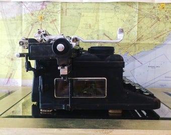 Typewriter Royal typewriter antique typewriter glass panels typewriter classic balck typewriter standard typewriter 19th century typewriter