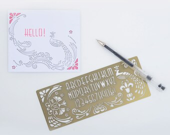 Stylish design stencils and drawing templates in Art Nouveau, Art Deco and Arts & Crafts