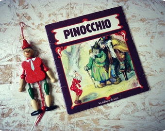 Pinocchio - Antique illustrated book - simple and illustrated story for children