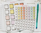 Rainbow Notebook Planner Stickers -  Medium and small size available | Stationery for Erin Condren, Kikki K, scrapbooking