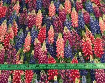 Timeless Treasure Nature - Lupine Fabric by the half yard