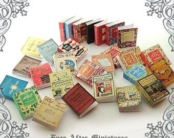 28 VINTAGE COOKBOOK Dollhouse Miniature Book Cover Set #8–1:12 Miniature Recipe Book Cook Book Cover Printable Dollhouse Book Cover DOWNLOAD
