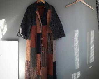 Wrap Tofu / long coat / Knitwear / Womens laptops coat / woman point / / amazing Handmade, knitt, knitting, handmade, coat