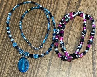 Handmade beaded necklace