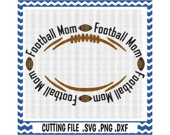 Football Monogram Svg, Football Mom Cutting Files, Svg-Dxf-Png-Pdf, Cut Files For Silhouette Cameo & Cricut, Svg Download.