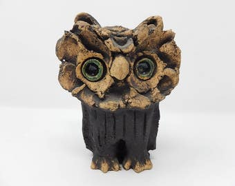 Creator's sculpture Owl in Raku
