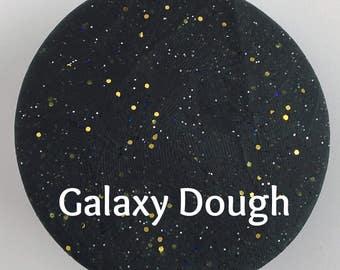 Black Glittery Scented Play Dough - Sparkly Dough - Galaxy Dough - Sensory Play - Stress Dough - Playdough - STEM Toy - Montessori Toy