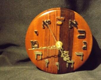 hand turned clock exotic wood mahogany kingwood east indian rosewood. one of a kind.
