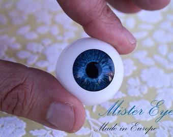 Reborn Eyes 30 mm-BLUE-a pair-reborn, wrist, eyes for bjd, ooak