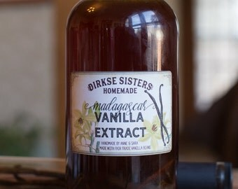 Customized Homemade Vanilla Extract Label - All Text is Customizable
