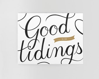 Good Tidings Letterpress Holiday Card