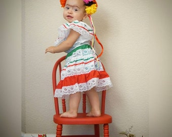Traditional Mexican Baby/Toddler Dress
