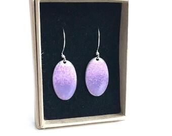 Iris enamel drop earrings